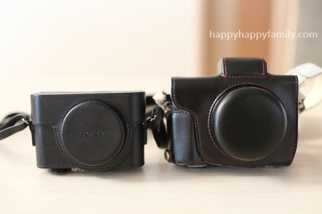 Case strap black polyurethan for Olympus OM-D E-M10 Mark II with 14-42mm lens